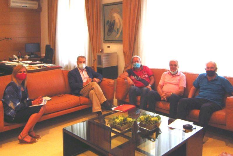 Reunión de UJP con el presidente del Parlamento de Cantabria y la portavoz del grupo parlamentario socialista