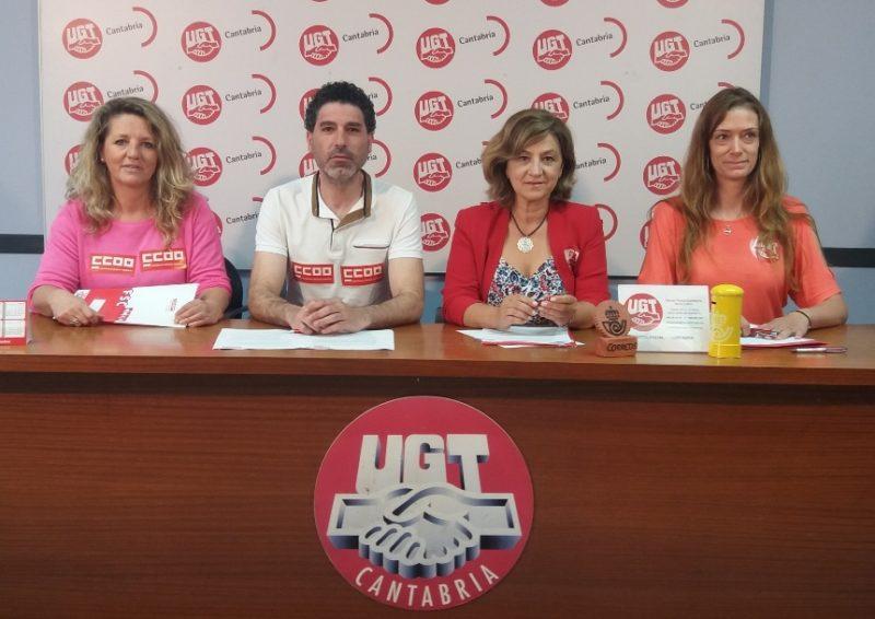 Portavoces de UGT y de CCOO de Correos en Cantabria