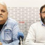 Los secretarios generales de las federaciones de industria de UGT (izquierda) y de CCOO