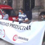 Comité de empresa de Sniace, en una de las movilizaciones convocadas por la unidad productiva de la fábrica