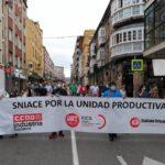 Imagen de una de las últimas manifestaciones de Sniace