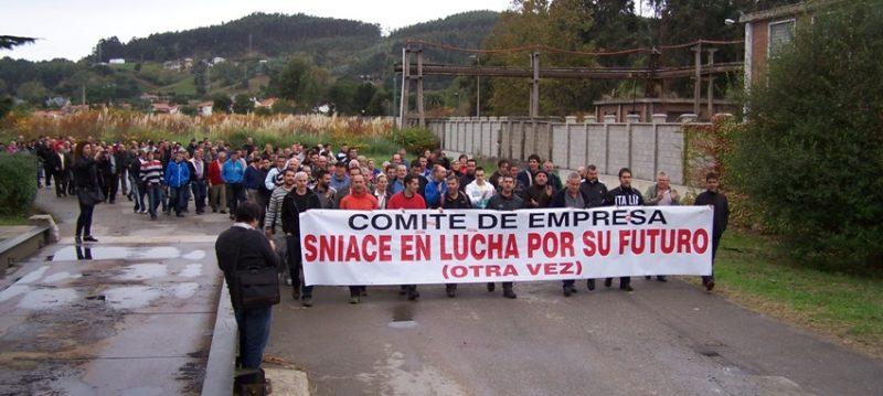 Imagen de unas de las movilizaciones de los trabajadores de Sniace hace ya casi dos años