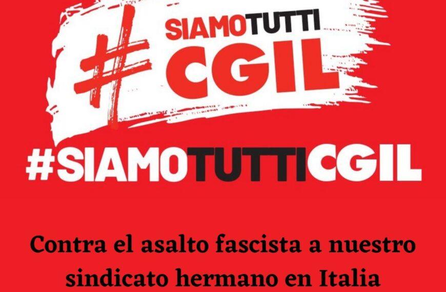 Concentración #SiamoTuttiCGIL