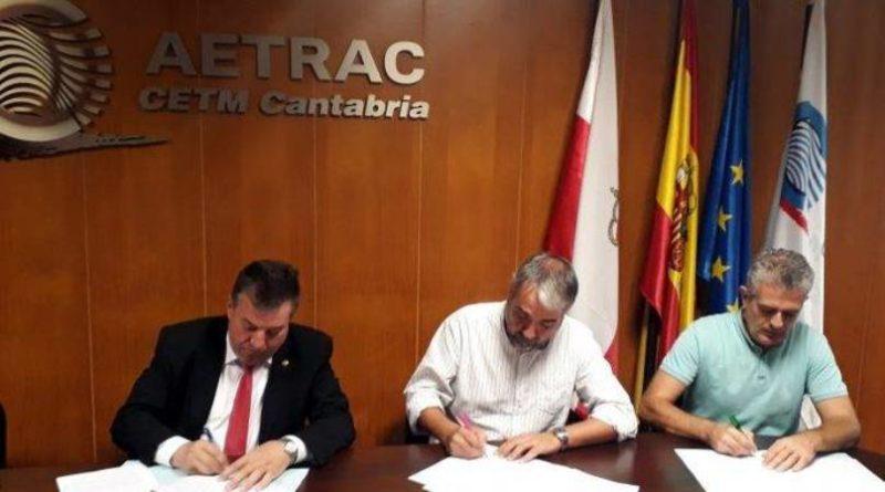 Imagen de archivo de la firma del convenio colectivo de Transporte de Mercancías por Carretera de Cantabria