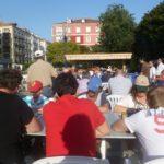 Imagen del torneo de ajedrez de UGT, el más antiguo de Cantabria en esta modalidad de partidas rápidas entre todos los participantes de no más de dos minutos de duración