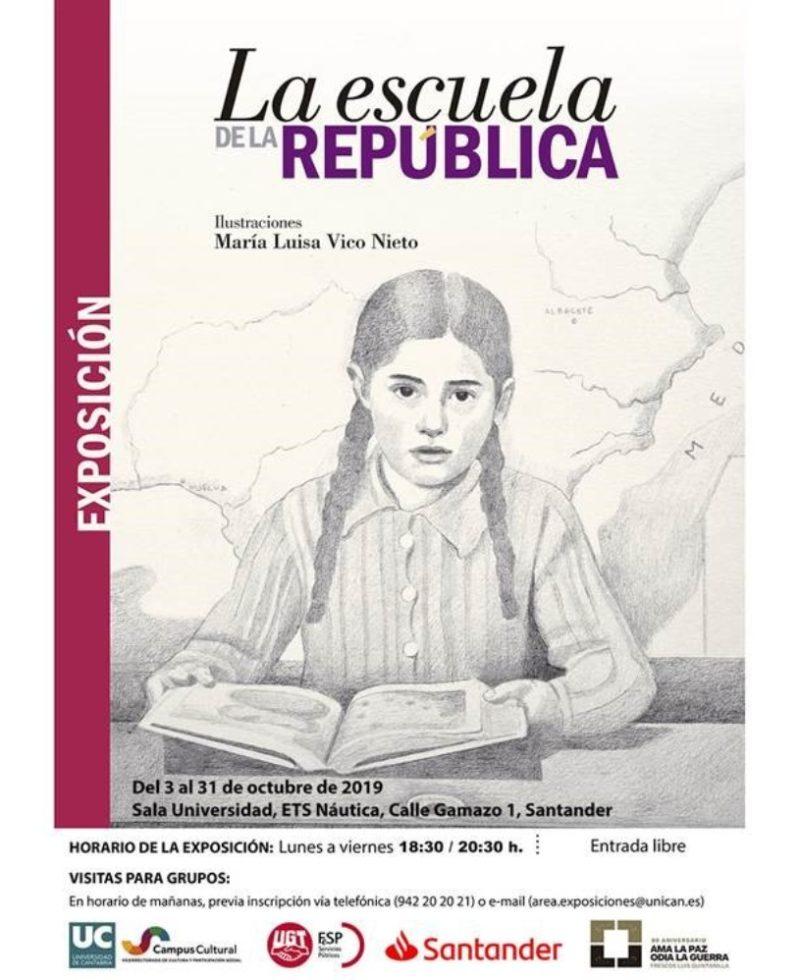 """Cartel promocional de la exposición """"La escuela de la república. Miradas de una ilusión"""""""