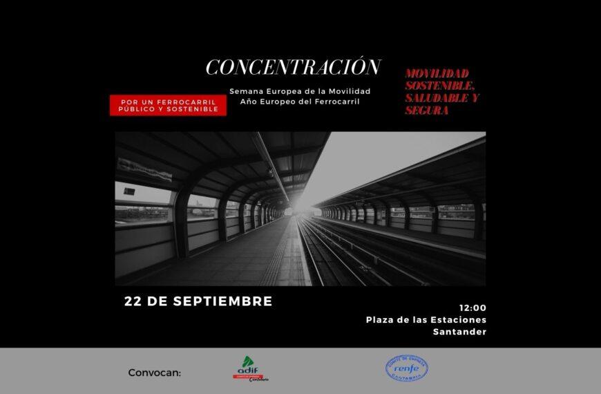 Concentración Ferrocarril Público y Sostenible