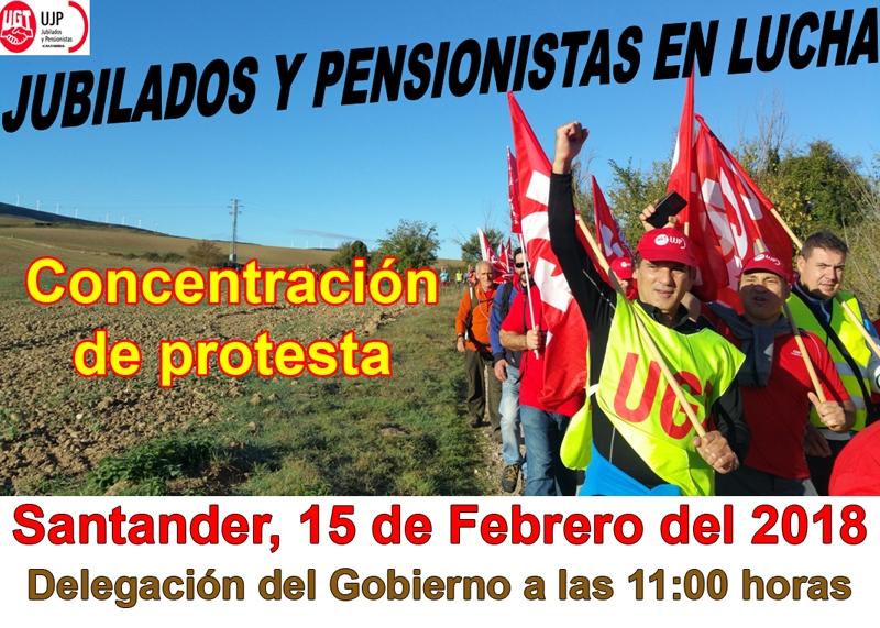 Las movilizaciones de los jubilados y pensionistas de UGT y de CCOO se iniciarán el 15 de febrero y concluirán el 22 de marzo