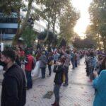 Concentración del pasado 30 de octubre, que congregó a millares de personas ante la sede de la Consejería de Educación