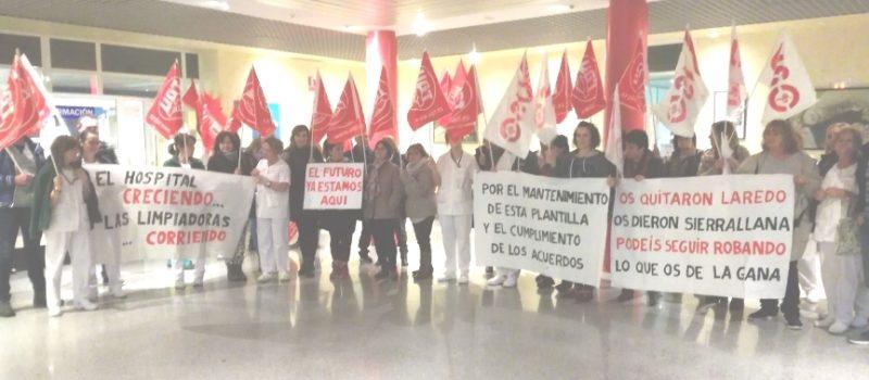 Las adjudicaciones de servicios públicos están generando movilizaciones por incumplimientos de las empresas concesionarias, como en la limpieza del Hospital de Sierrallana