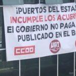 Tras 17 días de encierro de protesta, Puertos del Estado se compromete a cumplir con lo acordado en el convenio colectivo