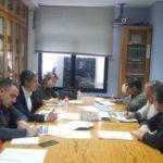 Imagen de la reunión sobre los PGE de 2019 en Cantabria, celebrada en la sede de UGT en Santander