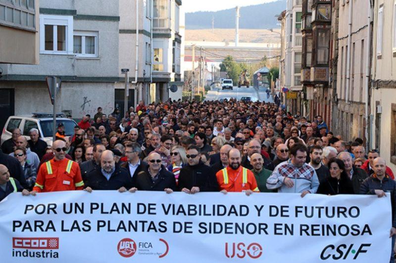 Manifestación de los trabajadores de Sidenor el pasado 27 de febrero